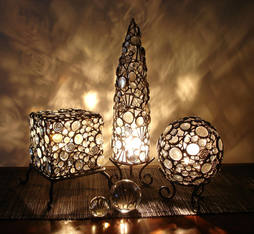 Lorisdawn Designs • Galleries • Table Lamps • Shapes :  designs lamps table clear